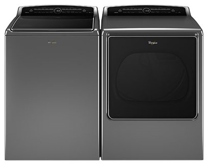 WHIRLPOOL LARGE CAPACITY TOP LOAD LAUNDRY PAIR