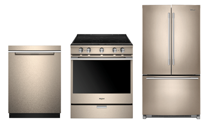 WHIRLPOOL SUNSET BRONZE KITCHEN PACKAGE
