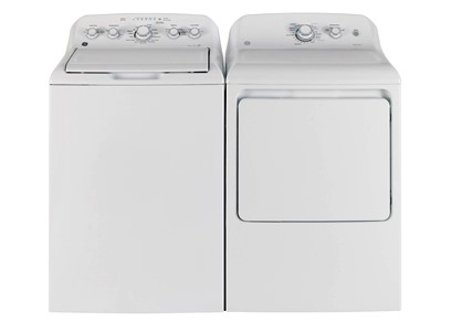 GE WHITE TOP LOAD LAUNDRY PAIR