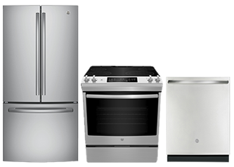 GE KITCHEN PACKAGE - GWE19JSLSS, JCS830SMSS, GBT632SSMSS