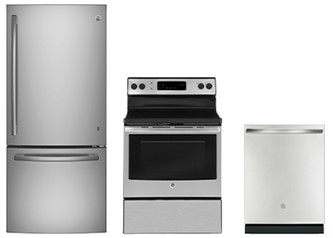 GE Appliances 3pc Appliance Package in Stainless Steel