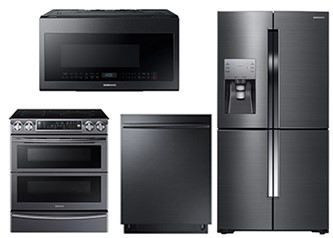 SAMSUNG KITCHEN PACKAGE - DW80K7050UG, ME21M706BAG, NE58K9850WG, RF23J9011SG
