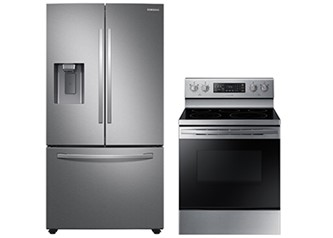 Samsung  Appliances Package Electric Range French Door  Refrigeration