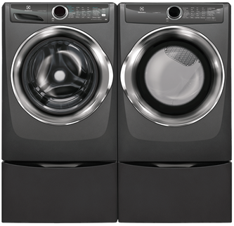 ELECTROLUX GREY FRONT-LOAD PERFECT STEAM LAUNDRY PAIRS