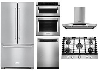 KITCHENAID KITCHEN PACKAGE - KDPE234GPS, KOCE500ESS, KRFC302ESS, KCGS956ESS, KVWB606DSS