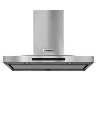 """KitchenAid® 36"""" Wall-Mount, 3-Speed Canopy Hood - Stainless Steel"""