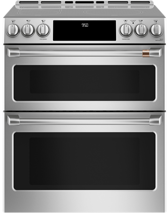 "Café™ 30"" Slide-In Front Control Induction and Convection Double Oven Range"