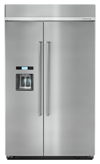 KitchenAid® 29.5 cu. ft 48-Inch Width Built-In Side by Side Refrigerator - Stainless Steel