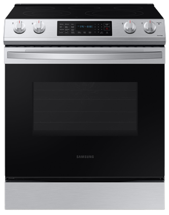 6.3 cu. ft. Electric Range with Fan Convection in Stainless Steel