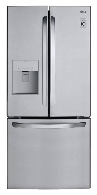 21.8 Cu.Ft. 30-Inch French Door Refrigerator with Water Dispenser
