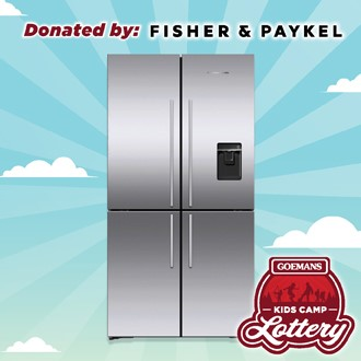 """LOTTERY - FISHER PAYKEL 36"""" Black Stainless 4 Door Counter Depth Fridge. PRIZE VALUE $3999"""