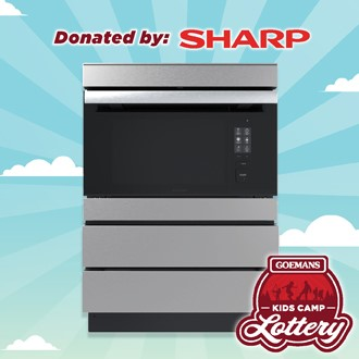 """LOTTERY - SHARP 24"""" Microwave Drawer and Pedestal. PRIZE VALUE $4700"""