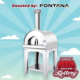 LOTTERY - FONTANA Pizza Oven with Cart. PRIZE VALUE $3598