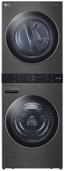 Single Unit Front Load LG WashTower™ with Center Control™ 5.2 cu. ft. Washer and 7.4 cu. ft. Electric Dryer