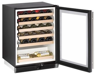 "1000 Series 24"" Wine Captain(r) Model With Stainless Frame Finish and Field Reversible Door Swing (115 Volts / 60 Hz)"