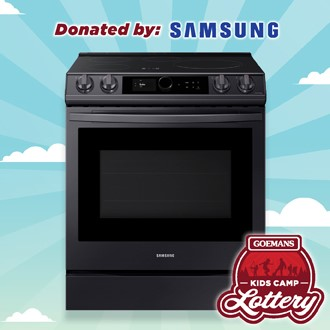 LOTTERY - SAMSUNG 6.3 CU.FT. INDUCTION SLIDE IN RANGE WITH AIR FRY,. PRIZE VALUE $3499