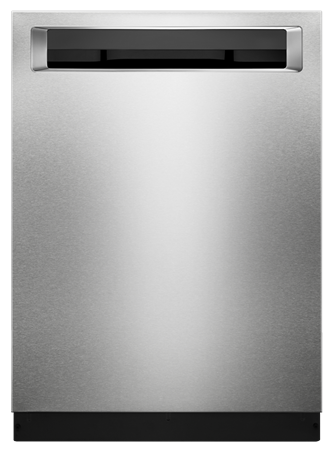 46 DBA Dishwasher with Third Level Rack and PrintShield™ Finish, Pocket Handle - PrintShield Stainless