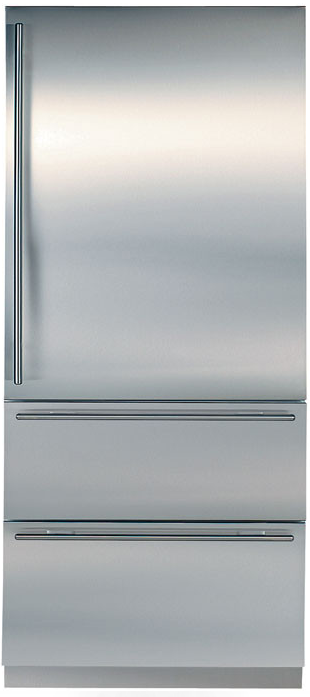 36 Inch Built-in Bottom Freezer Refrigerator with Spill-Proof Glass Shelves