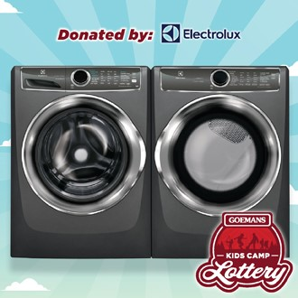 LOTTERY - ELECTROLUX Full Size Frontload Washer and Dryer. PRIZE VALUE $2998