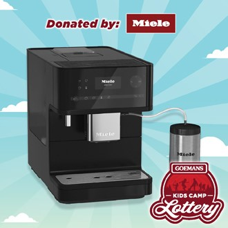 LOTTERY - MIELE One-Touch Countertop Coffee Machine. PRIZE VALUE $2499
