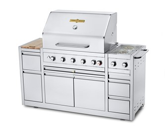 "36"" Natural Gas Estate Elite Series Mobile Island Grill"