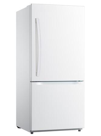 White Moffat 18.6 Cu. Ft. Bottom-Freezer Refrigerator