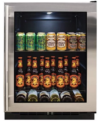 5.4 cu.ft high-efficiency Marvel undercounter beverage cooler with Forced Air Cooling technology