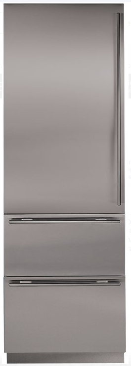 "27"" INTEGRATED OVER-AND-UNDER REFRIGERATOR/FREEZER WITH ICE MAKER - PANEL READY"