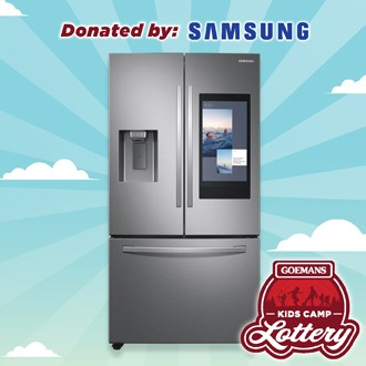 """LOTTERY - SAMSUNG 36"""" French Door Fridge with Family Hub. PRIZE VALUE $4299"""
